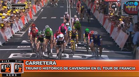 BikeNews 08/07/2016 - Triunfo histórico de Cavendish en el Tour de Francia