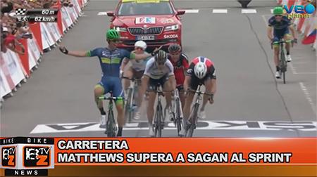 BikeNews 13/07/2016 - Matthews supera a Sagan al sprint
