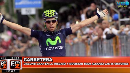 BikeNews 21/09/2016 - Visconti gana en la Toscana y Movistar Team alcanza las 36 victorias