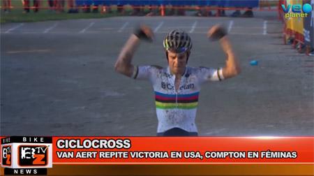 BikeNews 26/09/2016 - Van Aert repite victoria en USA, Compton en féminas