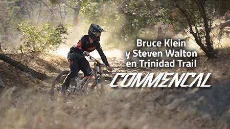 Bruce Klein y Steven Walton descendiendo por Trinidad Trail