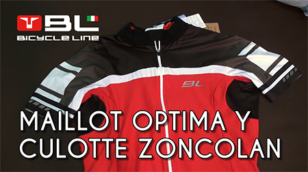 Maillot Optima y culotte Zoncolan de Bicycle Line