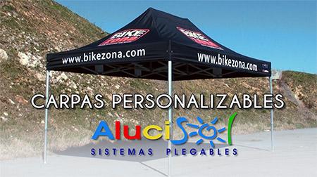 Carpas personalizables y plegables AluciSol