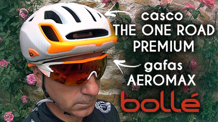 Casco The One Road Premium y gafas Aeromax de Bollé