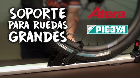 Adapta tu portabicicletas a las ruedas grandes con el soporte de Atera