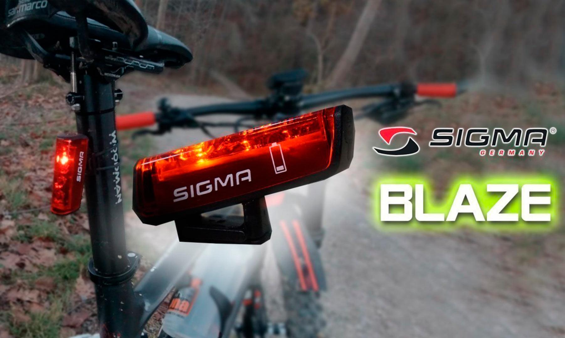 Luz trasera inteligente Sigma BLAZE con función de frenado