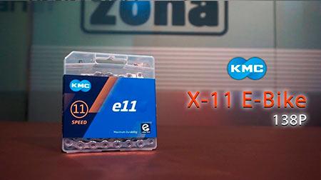 Cadena compatibe con sistemas de cambio de 11 velocidades y e-bikes KMC X-11 138P