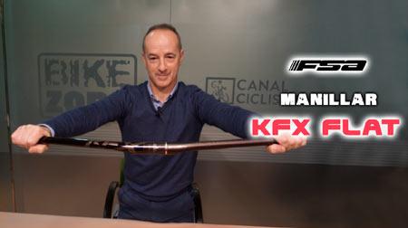Manillar FSA KFX Flat pensado para grupos electrónicos
