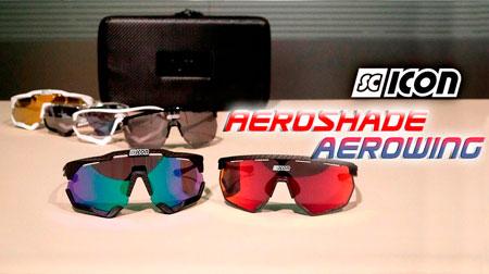Gafas Scicon  Aeroshade y Aerowing con efecto carbono