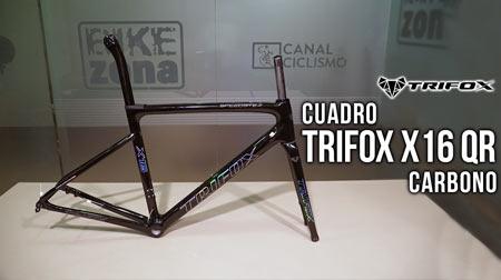Cuadro Trifox X16 QR carbono