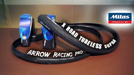 Cubiertas MITAS Arrow Racing Pro y X-Road Tubeless con tecnología Weltex.