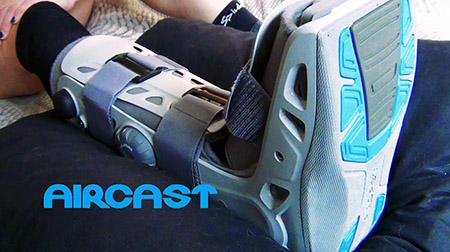 Recuperarse de una grave lesión con Aircast y Compex